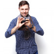Happy tourist photographer man — Stock Photo #80463244