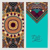 Decorative label card for vintage design, ethnic pattern — Vettoriale Stock