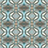 Seamless geometry vintage pattern, ethnic style ornamental backg — Stock Vector