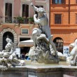 Piazza Navona, Rome, Italy, the Fountain of Neptune — Stock Photo #54003929