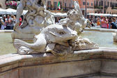 Rome, Italy, sculptural detail of the Fountain of Neptune — Foto de Stock