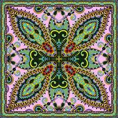 Traditional ornamental floral paisley bandanna — Stockvector