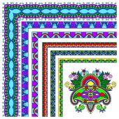 Collection of ornamental floral vintage frame design. — Stock Vector