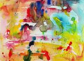 Ręka streszczenie tło akwarela, aquarelle te kolorowe — Zdjęcie stockowe