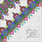 Ornamental background with flower ribbon, stripe pattern, greeti — Stock Vector