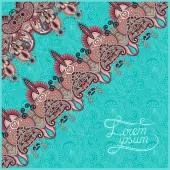 Fondo ornamental con flor de la cinta, el patrón de la raya, greeti — Vector de stock