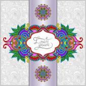 необычный цветочный декоративный шаблон с местом для вашего текста — Cтоковый вектор