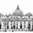 St. Peters Cathedral, Rome, Vatican, Italy — Stock Vector #54906707
