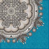 Pattern in ukrainian oriental ethnic style — Stock Vector
