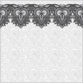 Grey ornamental background with flower ribbon, stripe pattern — Vector de stock