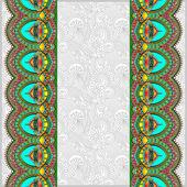 Ornamental background with flower ribbon, stripe pattern — Vetorial Stock