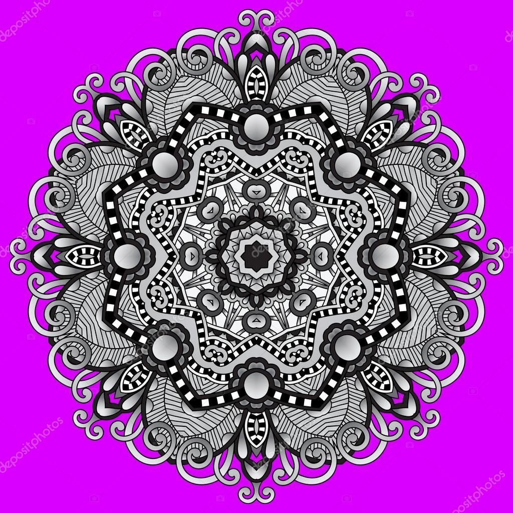 灰色圆形装饰几何图案为瑜伽时尚设计