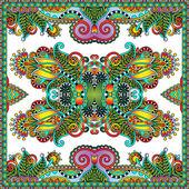 Traditionell dekorativa blommiga paisley snusnäsduk — Stockvektor