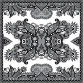 серый декоративные цветочные пейсли бандану — Cтоковый вектор