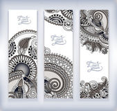 Set of decorative flower template banner — ストックベクタ