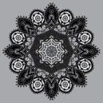 Grey circular decorative geometric pattern for yoga fashion desi — Stock Vector #55271685