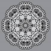 Grey circular decorative geometric pattern for yoga fashion desi — Stock Vector