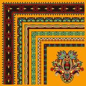 Collection of ornamental floral vintage frame design. All compon — Stock Vector