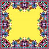 Цветочная винтажная рамка, украинский этнический стиль — Cтоковый вектор