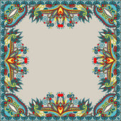 Floral vintage frame, ukrainian ethnic style — Stock Vector