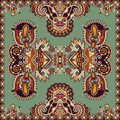 Traditionelle dekorative floral paisley tuch — Stockvektor