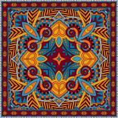 Tradycyjne ozdobnych kwiatów pąki barwna chustka — Wektor stockowy