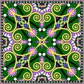 Traditionele versiering floral paisley Bandana — Stockvector