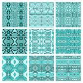 Набор различных геометрических бесшовные цветные Винтаж — Cтоковый вектор