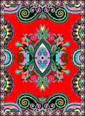 ウクライナの東洋の花観賞用のカーペットのデザイン — ストックベクタ