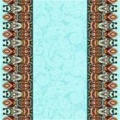 Ornamental background with flower ribbon, stripe pattern, greeti — Vettoriale Stock