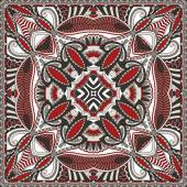 Traditional ornamental floral paisley bandanna. You can use this — Stock vektor