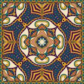 Traditional ornamental floral paisley bandanna. You can use this — Vettoriale Stock