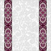 Lace border stripe in ornate floral background — Stockvektor