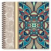 Diseño de cubierta ornamental cuaderno espiral — Vector de stock