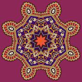 圈花边装饰,圆的观赏几何花边图案 — 图库矢量图片