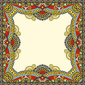 Floral vintage frame, ukrainian ethnic style — Stock Vector
