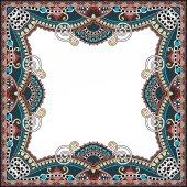 Cornice d'epoca floreale, stile etnico ucraino — Vettoriale Stock