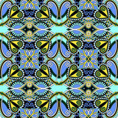 Seamless geometry vintage pattern, ethnic style ornamental backg — Vettoriale Stock