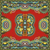 Traditional ornamental floral paisley bandanna. You can use this — Vetor de Stock