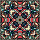 Traditional ornamental floral paisley bandanna. You can use this — Stock Vector