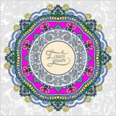 Ronde sier frame, cirkel floral achtergrond, mandala patter — Stockvector