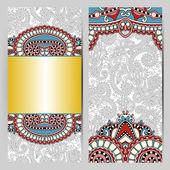 ビンテージのデザイン, エスニック パターン, antiqu の装飾的なラベル カード — ストックベクタ