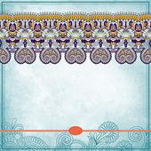 цветочный орнамент с местом для текста, в гранж ба — Cтоковый вектор