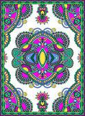 Progettazione ucraino orientale tappeti floreali ornamentali — Vettoriale Stock