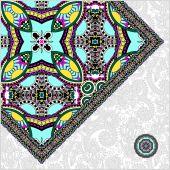 необычные цветочные декоративные шаблон с местом для текста, Ори — Cтоковый вектор
