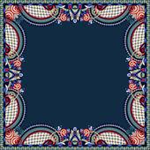 Floral vintage frame, ukrainian ethnic style. Vector illustratio — Vettoriale Stock