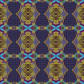 无缝的几何复古图案,民族风格装饰黑色 — 图库矢量图片