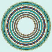 Set of round geometrical frames, circle border ornament, vector — Stock Vector