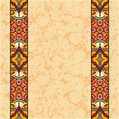 Lace border stripe in ornate floral background, vector illustrat — Stock Vector