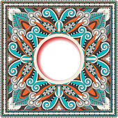 Floral round pattern in ukrainian oriental ethnic style for your — Stock Vector
